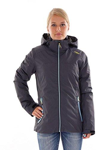 CMP Veste Outdoor Veste Fonctionnelle Veste 3 en 1 Gris climaprotect Chaud Taille 38 3z15766d, Gris