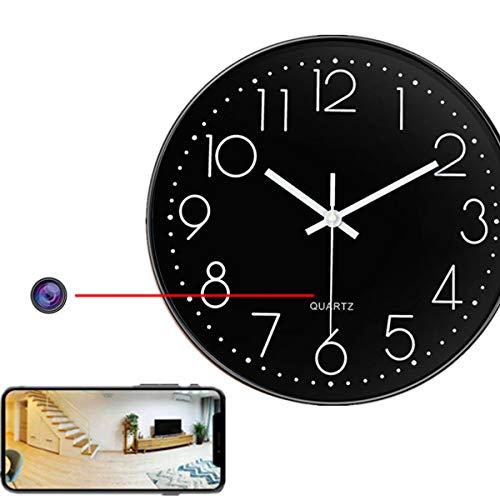 GEQWE Reloj WiFi con Cámara Espía, Reloj Inalámbrico con Cámara Oculta, Cámara De Seguridad HD 4K, Detección De Movimiento, Visión Nocturna, para El Hogar Y La Oficina