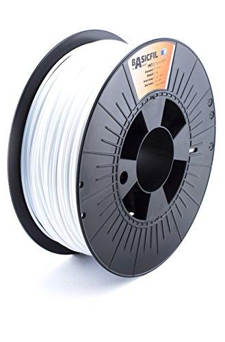 BASICFIL PET 2.85mm, 1 kg filamento de impresión 3D, Blanco