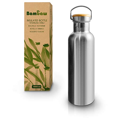 Insulated Water Bottle | Stainless Steel Water Bottle 1000 ml | Eco Friendly Reusable...