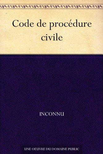 Couverture du livre Code de procédure civile