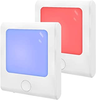 MAZ-TEK Plug-in Night Light with RGB Color Changing & Dimmable Warm White Light for Hallway, Kitchen, Stairway, Bedroom, Kids' Room,2 Pack