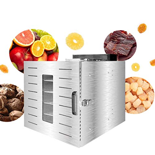 Best Deals! Electric Food Dehydrator, 6-layer Stainless Steel Food Dehydrator Temperature-controlled...