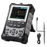 Osciloscopio Digital Multimetro Osciloscopio Portatil 120 MHz 500MSps Multímetro de Onda Automática Pantalla LCD Gráfico de Barras Analógicas Muestreo de Alta Velocidad 1 KHz ~ 1 MHz de Frecuencia