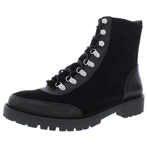 Lucky Brand Womens Ilianna Leather Closed Toe Ankle Fashion, Black, Size 11.0