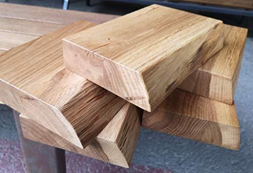 BestLoft.de Waschtisch Muster aus (40 mm) edler Eiche mit Baumkante – Massivholz