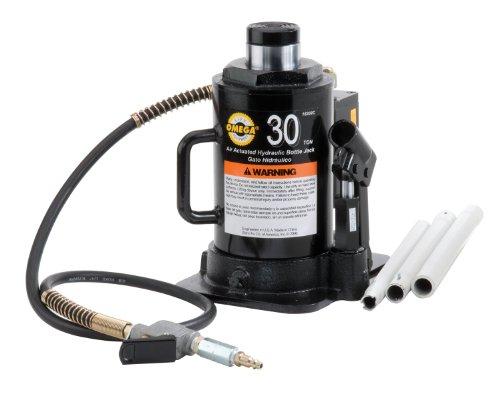 Omega 18302C Black Hydraulic Bottle Jack - 30 Ton Capacity