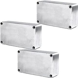 ESUPPORT 1590B 115x65x35mm Aluminum Metal Stomp Box Case Enclosure Guitar Effect Pedal Pack of 3