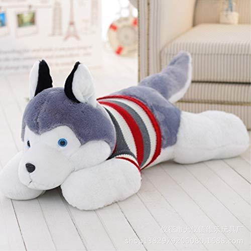 Husky hond Bear knuffel pop pop schattige meisje pop slaap kussen Plush toys (Size : 100cm)