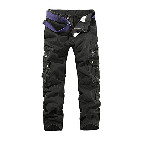ZIXINGA Hombre Pantalon Cargo Pants Camuflaje Pantalones Casuales Work Trousers