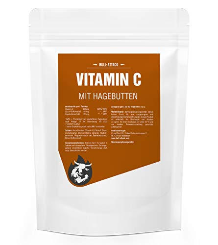 Vitamin C Depot | 500 Tablets (Vegan) á 500mg | Bulk Pack for 500 Days | with Rose Hip Powder + bioflavonoids | Delayed Release | Premium Quality | Produced According to ISO and GMP Standards