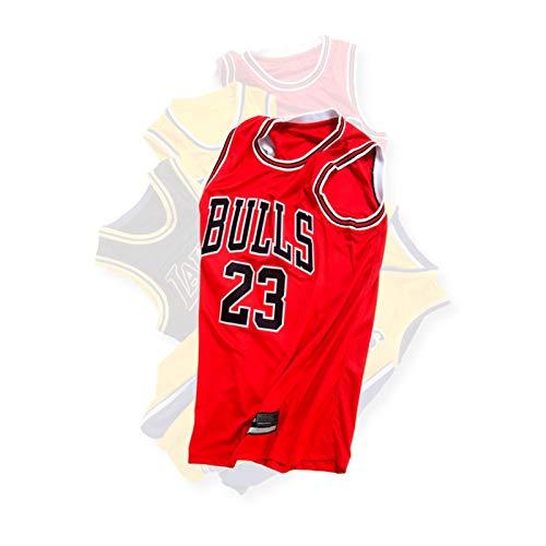 NBNB Jordan Bulls 23# Men Basketball Jersey,Unisex Retro Sleeveless Embroidered Basketball Top, Gym Sports Vest Sweat Wicking Quick Drying Jordan-XL