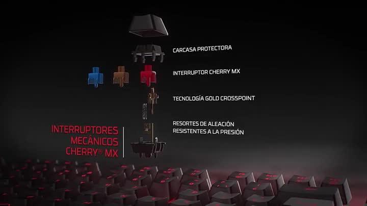 HyperX Alloy FPS Pro, Teclado mecánico de Gaming (US Layout), USB, Multicolor (Cherry Red)