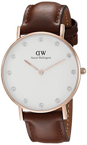 Daniel Wellington Damen-Armbanduhr Classy St. Mawe LADY ROSEGOLD Analog Quarz Leder DW00100075