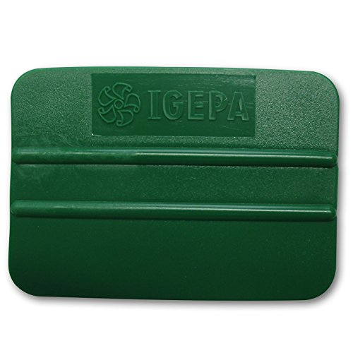 IGEPA 5 stuks Kantenrackel, folierakel, rakel handrakel, voor het verlijmen van folies, lijmhulp, hulpmiddel, kunststofrakel, kleur groen