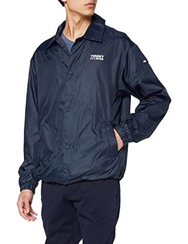Hilfiger Denim Herren TJM SOLID Coach Jacket Jacke, Blau (Black Iris 002), Medium (Herstellergröße: M)