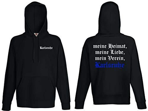 Karlsruhe Herren Kapuzensweat Ultras Meine Heimat Schwarz L