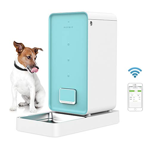 PETKIT Smart Feed Automatic Cat Feeder Dog Feeder 5.9L, iF Design Award 2018, Wi-Fi Enabled Pet Feeder, App for iOS Android, Work with Alexa,Portion Control, Timer Programmable, Fresh Lock System