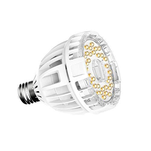 SANSI 15W LED Grow Light Bulb Full Spectrum Grow Lights for Indoor Plants, Plant Grow Light for Hydroponic Indoor Garden Succulent Veg Flower, E26 Plant Light Bulb Sunlight White, Full Cycle, 120V