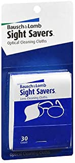 Bausch & Lomb Sight Savers Optical Cleaning Cloths 30 Each (Pack of 2)