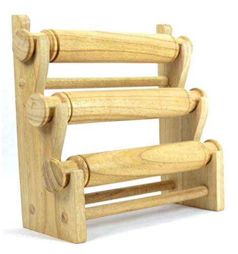 Schmuckhalterung und Uhren/Schmuckständer 3Armbandhalter aus exotischem Holz roh