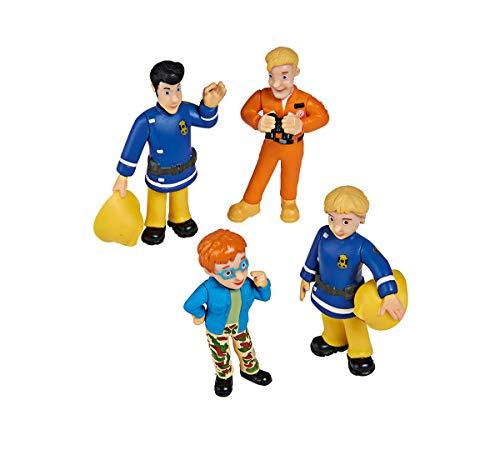 Simba 109251066 Feuerwehrmann Sam Sammelfiguren Serie 1, 4 Figuren