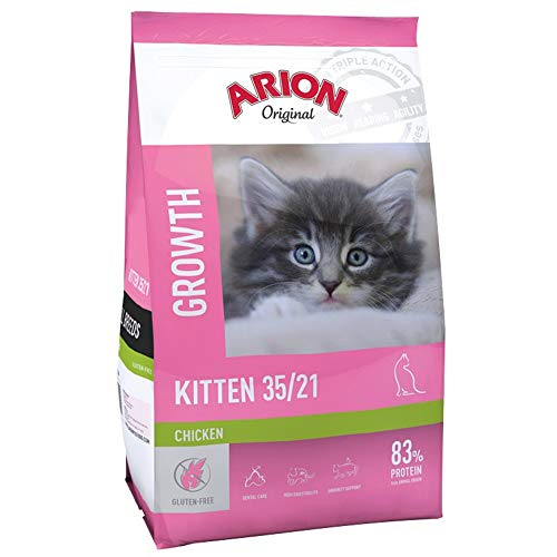 Arion Original Kitten Growth 35/21, Alimento Seco para Gatitos y Gatos Bebé, Saco 7,5 kilogramos