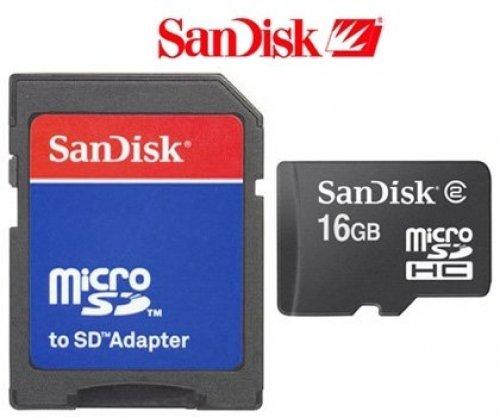 16GB microSD SDHC geheugenkaart voor Nokia N810 Internet Tablet incl. adapter op SD, Sandisk
