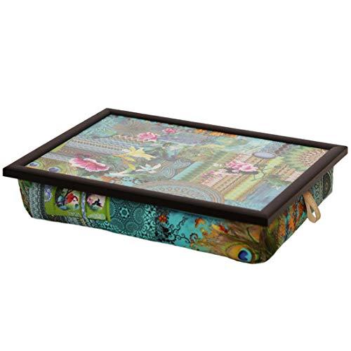 Andrew´s Knietablett Laptray mit Kissen Tablett für Laptop Bunt Türkis