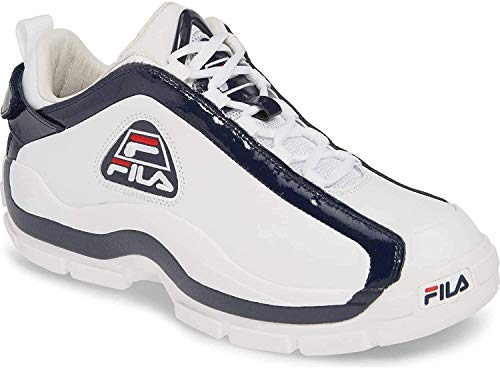 Fila Mens 96 Low Sneaker,White/Navy/RED,10