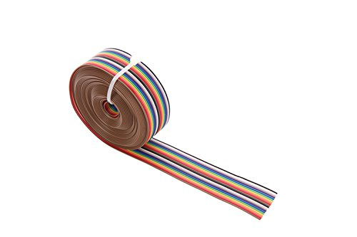 Eowpower 16.5Ft//5M 20Pin Rainbow Color Flat Ribbon Cable IDC Wire Cable