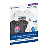10. Printworks Dark & Light Fabric Transfers, for All Fabric Colors, 5 Dark Sheets & 5 Light Sheets,10 Total Sheets, Inkjet, 8.5 x 11 (00537)