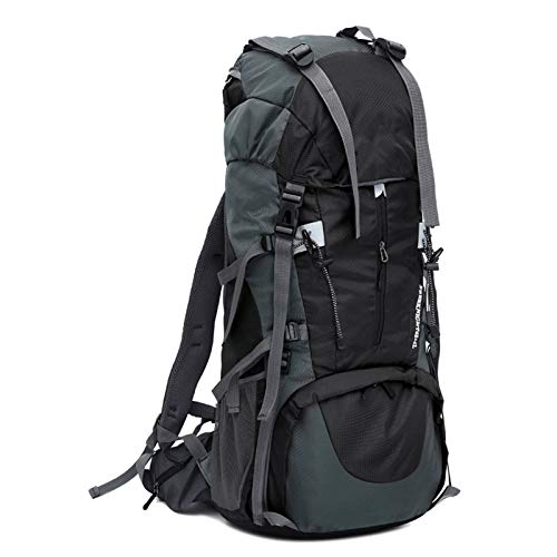 GAOJIN Trekking Rucksack, Hiking Backpack 70L,Mountaineering Backpack Waterproof for Men Women,Travel Backpack for Camping Climbing Outdoor Sports,Tear And Water-Resistant,Black