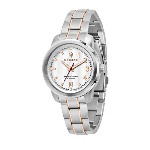 Reloj Para Mujer, Colección Royale, Movimiento De Cuarzo, Solo Tiempo, Con Fecha, En Acero Y PVD Oro Rosa - R8853137504