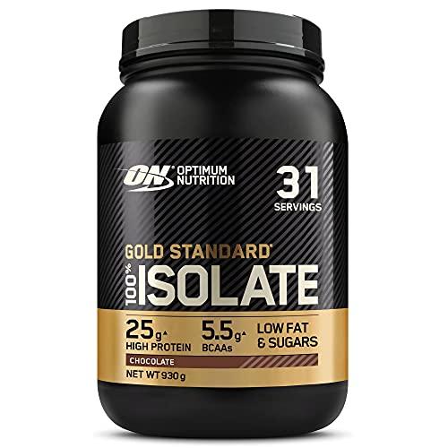 Optimum Nutrition ON Gold Standard 100% Isolate, Whey Isolate Protein Pulver, Eiweißpulver mit natürlich enthalten Glutamin und Aminosäuren, Chocolate, 31 Portionen, 930g