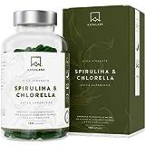 Gélules de Spiruline Chlorella [ 1800 mg ] - 180 Gélules - Complément Alimentaire...