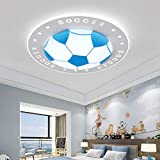 Dongbin Kinderzimmerlampe Fußball Lampe LED Junge Deckenleuchte Kinderzimmer Kinderleuchte Decke Leuchte Für Kinder Schlafzimmer Babyzimmer Modern Baby Licht 40CM,B
