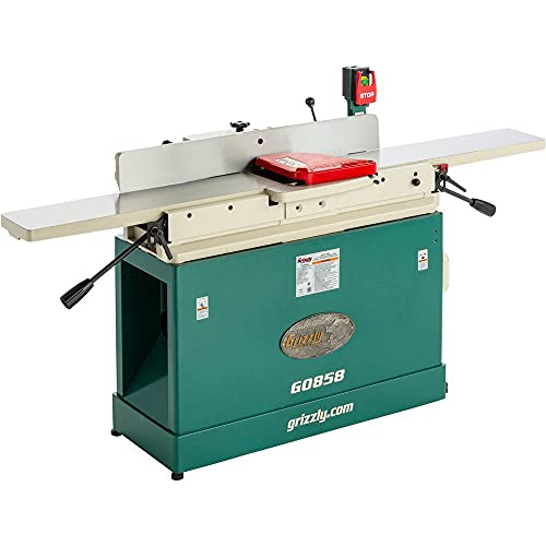Grizzly Industrial G0858-8' x 76' Parallelogram Jointer with Helical Cutterhead & Mobile Base