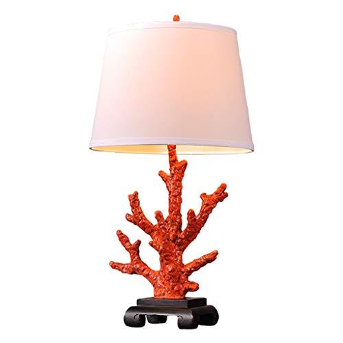kerryshop Lámparas Salón Dormitorio Americana Tabla de entidades de la lámpara de Noche Lámpara de Lectura Estudio Lámpara Creativa Moderna Mesa de Coral Lámpara de Mesa