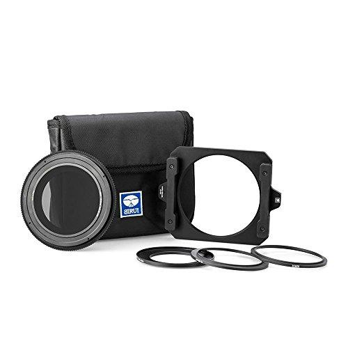 SIRUI NDH001 Rechteck-Filterhaltersystem 100mm passend für 82mm Objektive (inkl. Polfilter und Adapterringe 67mm, 72mm, 77mm)