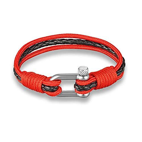 NKSS Mens Bracelets Woven Stainless Steel Multilayer Bracelet Anchor Survival Bracelets Men Women-05