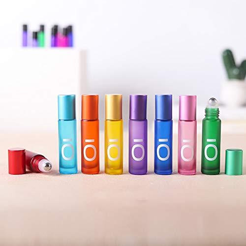 Roll On Glasflaschen für ätherisches Öl, Glasroller Nachfüllbarer Behälter Aromatherapie, Duftstoff, Glasaufsatz 10ml, Roller Leere Flaschen für Zuhause Reisen (8 Pack)