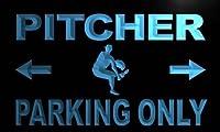 ADVPRO m402-b Pitcher Parking Only LED看板 ネオンプレート サイン 標識