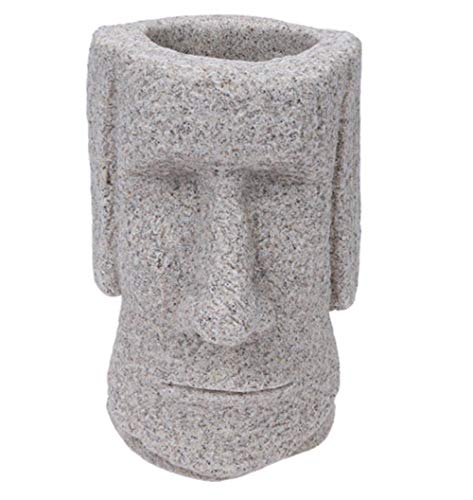 DyNamic 3D Moai Pen Holder Desk Organizer Easter Island Moai Desktop