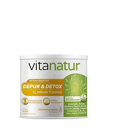 VITANATUR DEPUR & DETOX 200g - Complemento alimenticio, Ayuda al cuerpo a eliminar toxinas, Extracto de brócoli y alcachofa, Vitaminas y minerales
