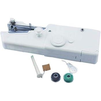 TTMOW Mini Máquina de Coser Portátil Herramienta Manual Portátil Herramienta de Puntada Rápida para Tela, Ropa o ...
