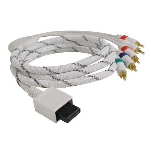 2-TECH Premium HDTV YUV Component Kabel Deluxe Edition, passend für Wii und Wii U - Komponenten Kabel GOLD