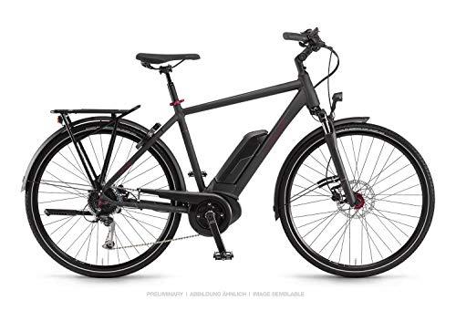 Winora Sinus Tria 9 Bosch - Bicicleta eléctrica 2019 (60 cm), color negro mate