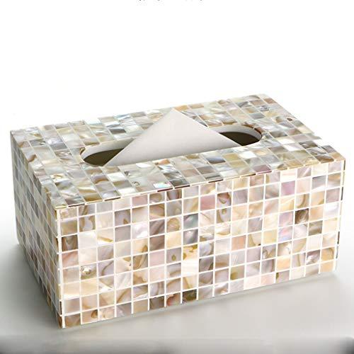 UCYG Wit Hedendaagse schaal Mozaïek Tiled Design Facial Tissue Refill Houder/Decoratieve Servet Doos Cover