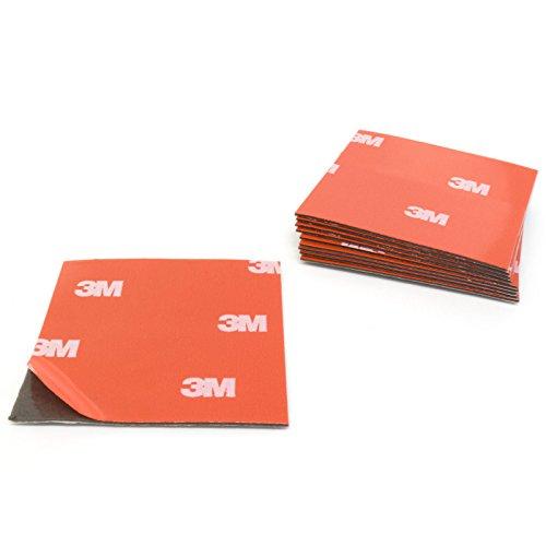 Almohadillas adhesivas 3M 4229P de espuma acrílica, de doble cara, 50x 50mm, 10unidades, fijación sin agujeros